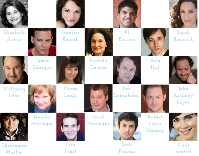 Image banner of ensemble members' headshots and names.